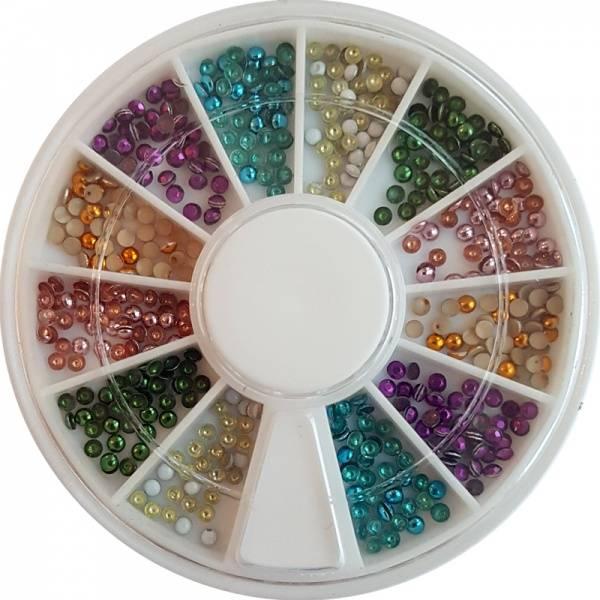 Bilde av Negldekor - Perler små fargede
