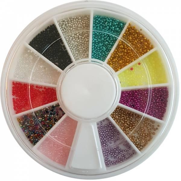 Bilde av Negldekor - Perler mini i farger