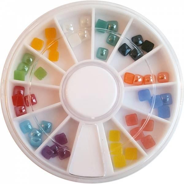 Bilde av Negldekor - Firkantede stener i farger