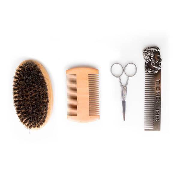 Bilde av Barbersett for skjegg og bart 4 deler