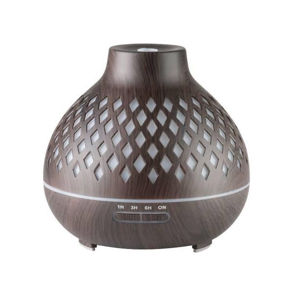 Bilde av Aroma diffuser SPA10 i mørkt tre - 400ml.+ timer - LED lys