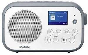 Bilde av DAB radio Sangean DPR42 BT hvit/grå med blåtann.