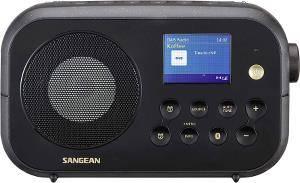 Bilde av DAB radio Sangean DPR42 BT svart med blåtann.
