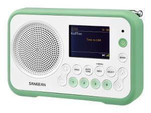 Bilde av DAB radio Sangean DPR76 Hvit/grønn Traveller 760