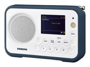 Bilde av     DAB radio Sangean DPR76 hvit/mørk blå