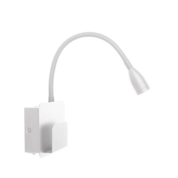 Vegglampe Design USB White
