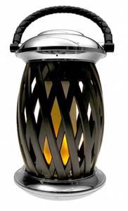 Bilde av Flammelampe Homeline Ignis, krom/sort, 120 LED