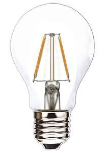 Bilde av 12V E27 A60 2W 2x Filament led pære, varmhvit