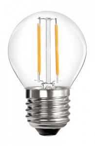 Bilde av 12V E27 B45 2W 2x Filament led pære, varmhvit