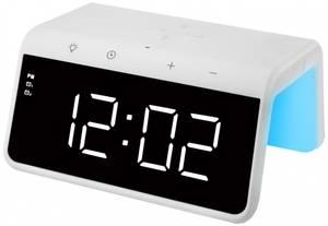 Bilde av  Trådløs lader med klokke, Audix SY-W0258, hvit