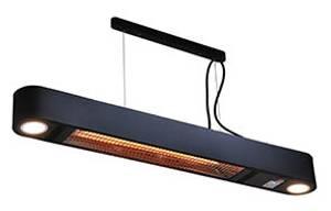 Bilde av Terrassevarmer takhengt, elektrisk og sort