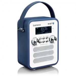 Bilde av DAB radio, Lenco PDR-050, blå oppladbar, blåtann