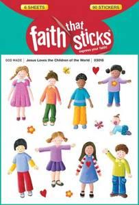 Bilde av Klistremerker Jesus elsker alle barna