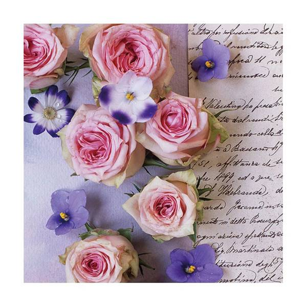 Lunsj serviett, Roser og Fioler, fra Ambiente.