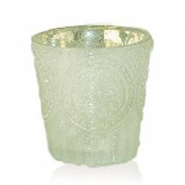 Telysglass, lys grønn, fra Interiørhuset.