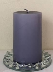 Bilde av Kubbelys, Lavendel 6 x 10 cm,