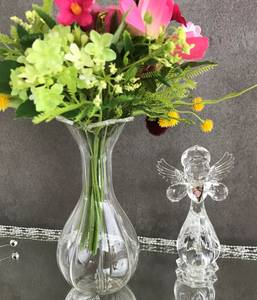 Bilde av Blomstervase, liten, i glass.