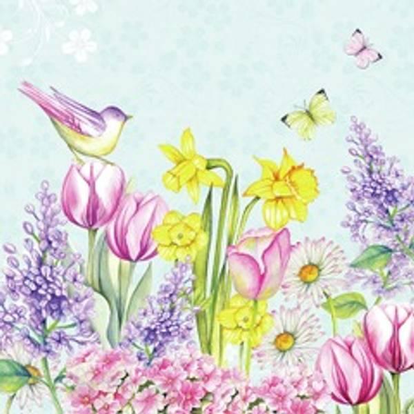 Lunsj serviett, Blomstrende hage, fra Ambiente.