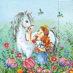 Bilde av Lunsj serviett, med hest.