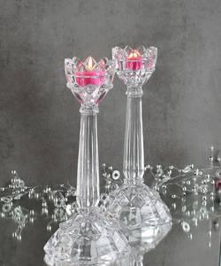 Bilde av Lysestake Blomst, i glass,