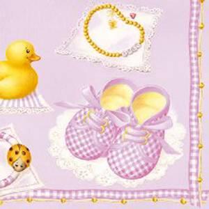 Bilde av Lunsj serviett Baby Girl.