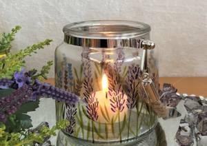 Bilde av Lysglass med Lavendel motiv