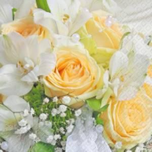 Bilde av Lunsj serviett, Gule roser