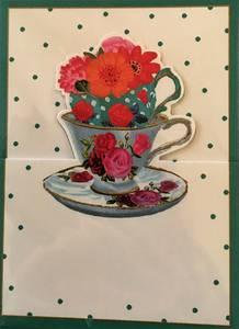 Bilde av Bordkort Caspari Tea Cups med