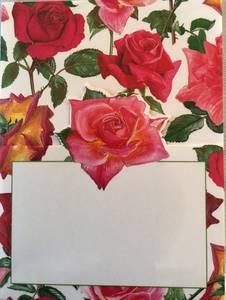 Bilde av Bordkort Caspari Rose Garden.