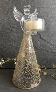 Bilde av Telysholder, engel i glass
