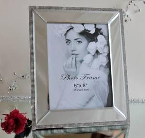 Bilde av Fotoramme med speil og strass