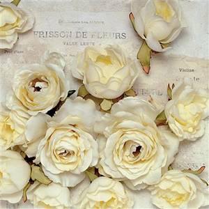 Bilde av Lunsj serviett, Lys gule rose