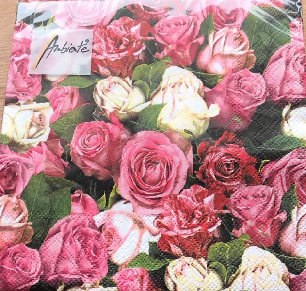 Lunsj serviett, Roses All Over, fra Ambiente.