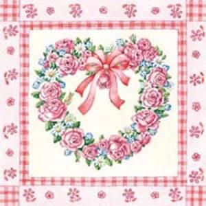 Bilde av Lunsj serviett. Rose heart