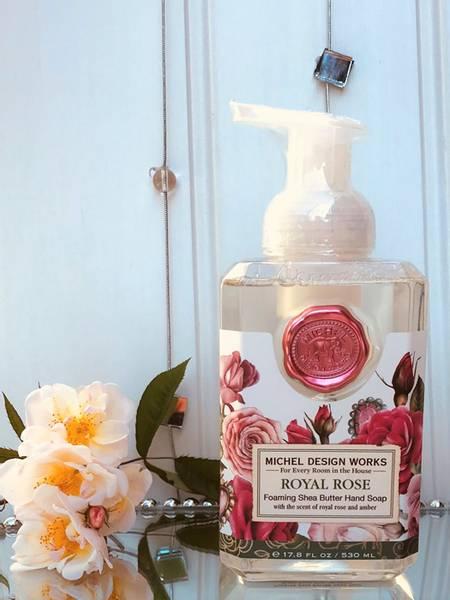 Skumsåpe, Royal Rose, fra Michel Design Works.