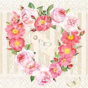 Bilde av Lunsj serviett. Blomster