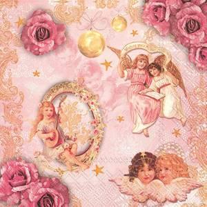 Bilde av Lunsj serviett rosa, motiv av