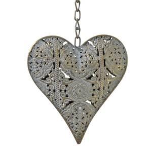 Bilde av Hjerte med heng, metall.