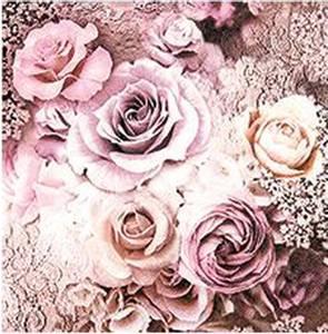 Bilde av Kaffe serviett, roser i
