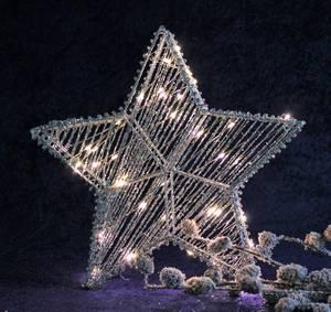 Bilde av Stjerne med Led lys, stor,