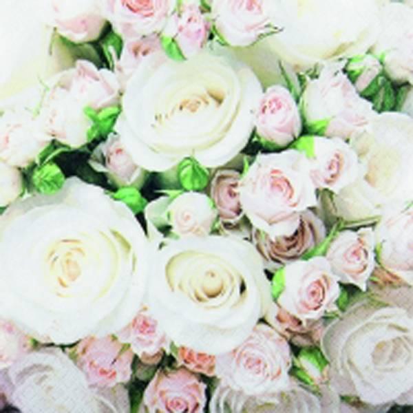 Lunsj serviett, Romanic Roses, Home Fashion.
