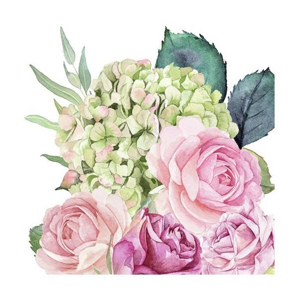Lunsj serviett, Rose hagen, fra Ambiente.