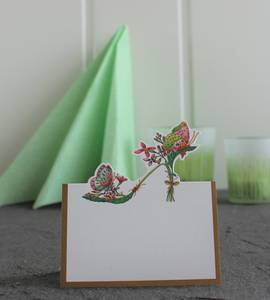 Bilde av Bordkort Caspari Blomster sko