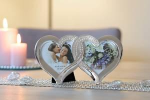 Bilde av Dobbel hjerte fotoramme med