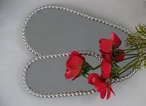 Bilde av Speilbrikke, med perlekant