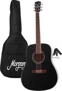 Bilde av Morgan GP W 10 BK Gitarpakke