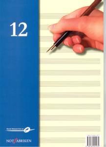 Bilde av Noter - Noteblokk 12 linjers