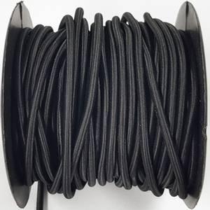 Bilde av Rundstrikk 4 mm sort strikksnor