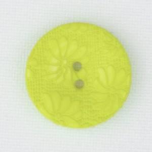 Bilde av Blomsterknapp sitron 15 mm plastknapp preget