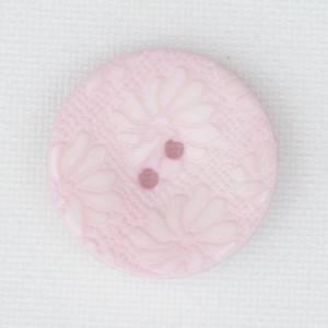 Bilde av Blomsterknapp babyrosa 15 mm plastknapp preget